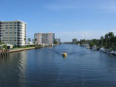 Inlet waterway canal